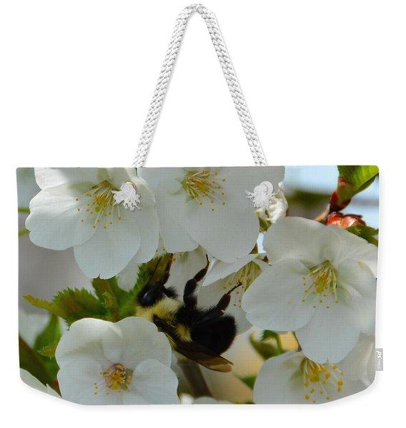 Bumble Bee In Hiding Weekender Tote Bag