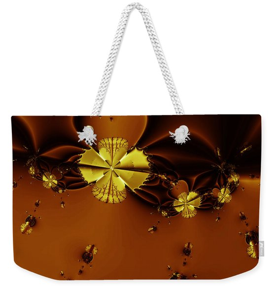Bumble Beez Over Chocolate Lake . Square . S19 Weekender Tote Bag
