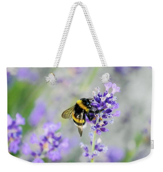 Weekender Tote Bag featuring the photograph Bumblebee by Bee-Bee Deigner