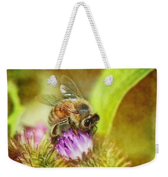 Bumbling Bee Weekender Tote Bag