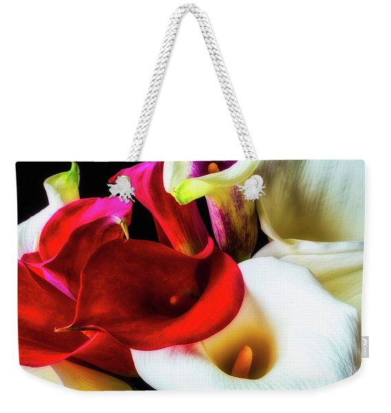 Bunch Of Beautiful Calla Lilies Weekender Tote Bag