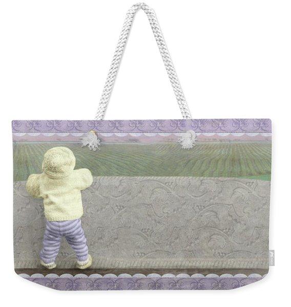 Bunny Hops Away Weekender Tote Bag