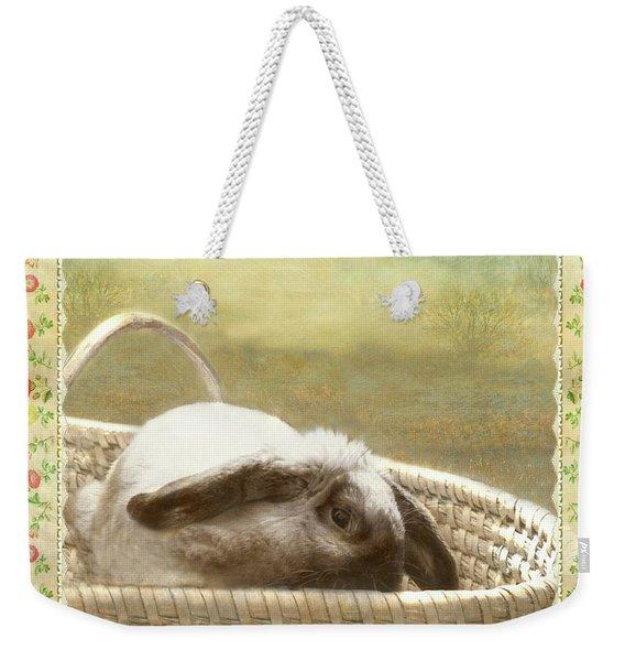 Bunny In Easter Basket Weekender Tote Bag
