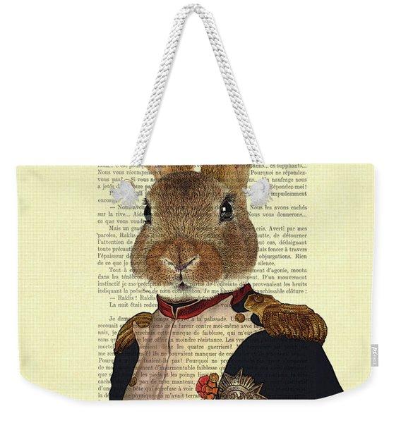 Bunny Portrait Illustration Weekender Tote Bag