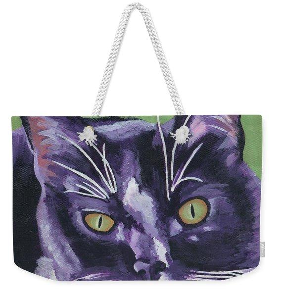Tuxedo Black And White Cat Weekender Tote Bag