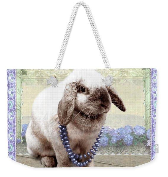 Bunny Wears Beads Weekender Tote Bag