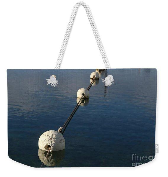 Buoys In Aligtnment Weekender Tote Bag