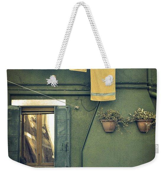 Burano - Green House Weekender Tote Bag