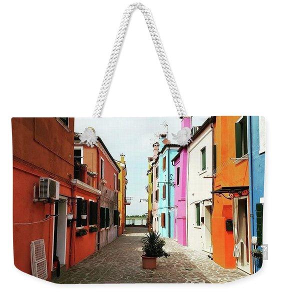 Burano Alley Weekender Tote Bag