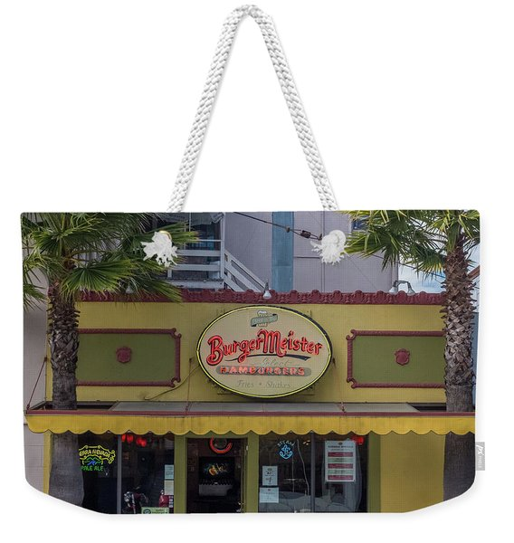 Weekender Tote Bag featuring the photograph Burgermeister Restaurant, San Francisco by Frank DiMarco