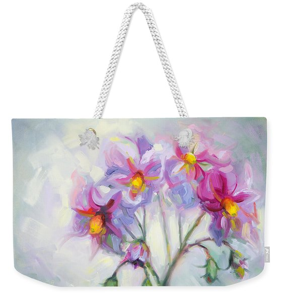 Weekender Tote Bag featuring the painting Buried Treasure by Talya Johnson