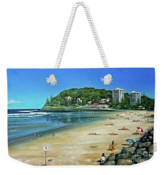 Burleigh Beach 100910 Weekender Tote Bag