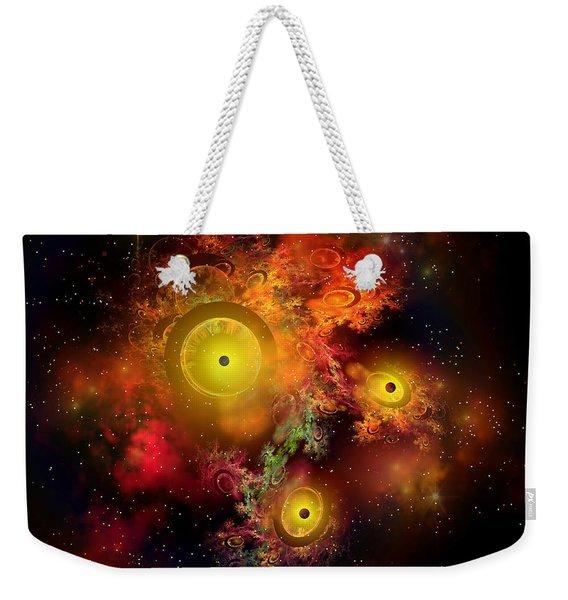 Burning Embers Nebula Weekender Tote Bag