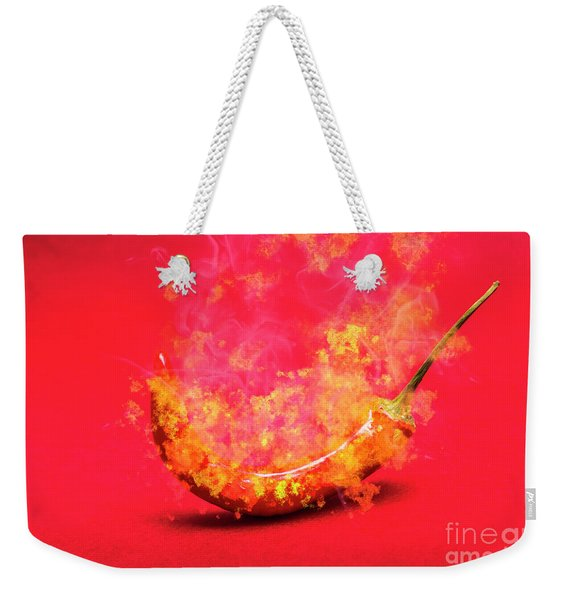 Burning Red Hot Chili Pepper. Mexican Food Weekender Tote Bag