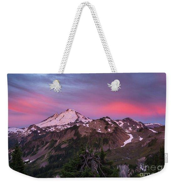Burning Sunrise Skies Above Mount Baker Weekender Tote Bag
