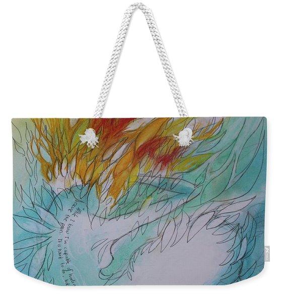 Burning Thoughts Weekender Tote Bag