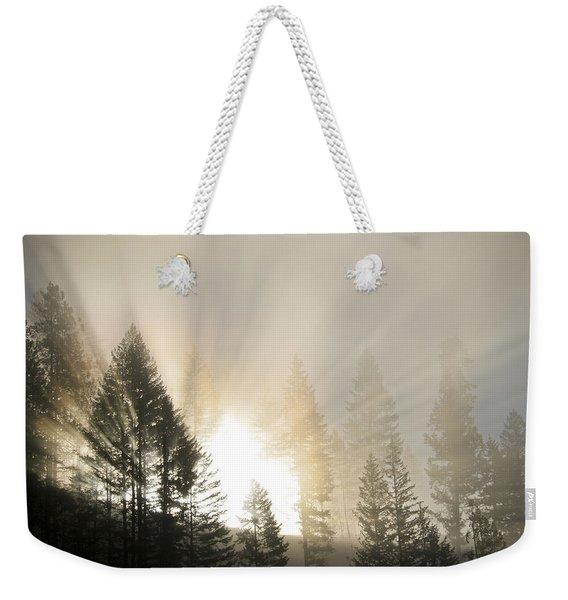 Burning Through The Fog Weekender Tote Bag