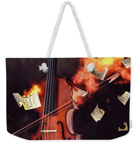 Burning Violin Weekender Tote Bag