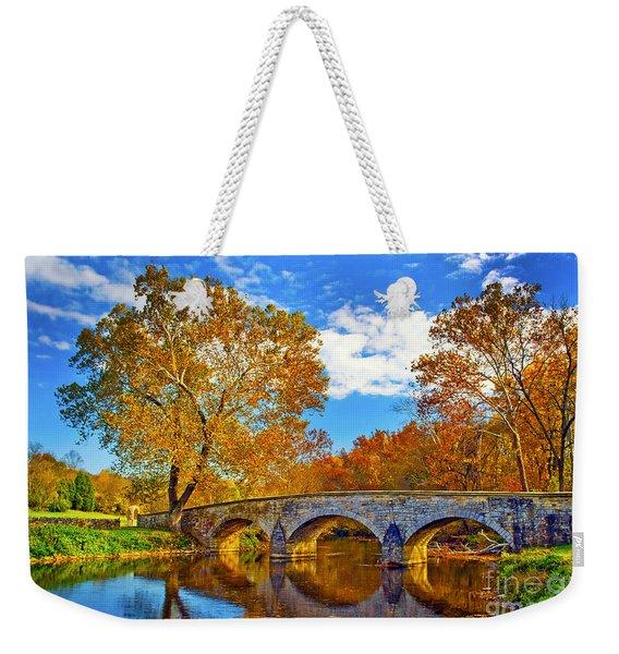 Burnside Bridge At Antietam Weekender Tote Bag
