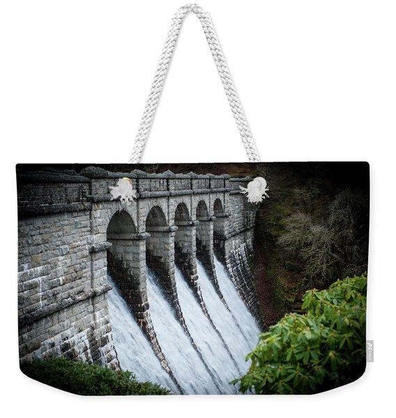 Burrator Reservoir Dam Weekender Tote Bag