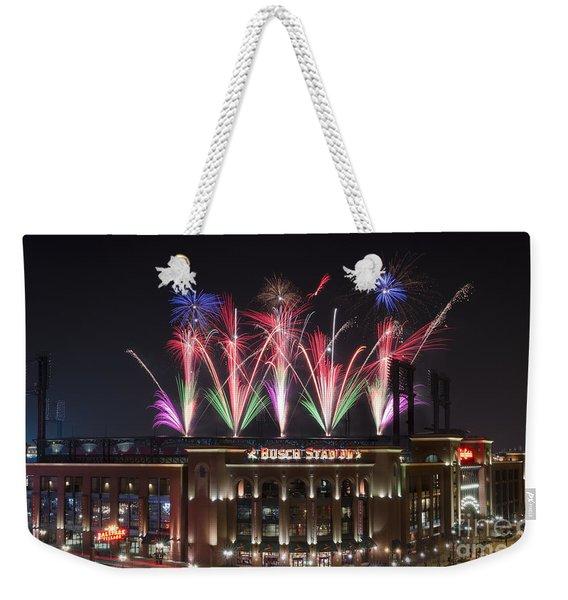 Busch Stadium Weekender Tote Bag