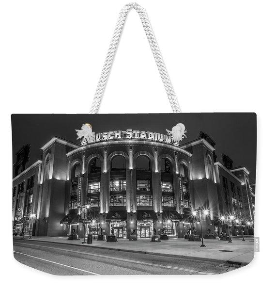 Busch Stadium St Louis Black And White  Weekender Tote Bag