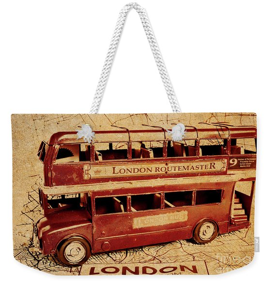 Buses Of Vintage England Weekender Tote Bag