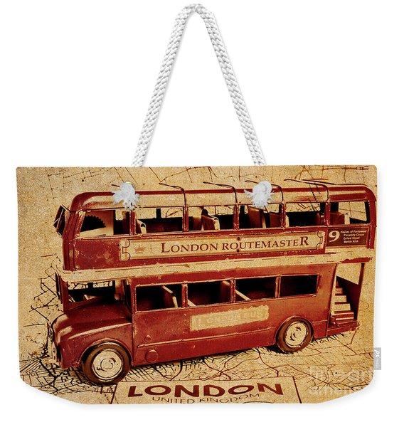 Buses Of Vintage England Weekender Tote Bag