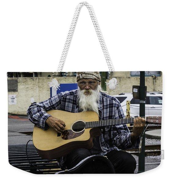Busking In New Orleans, Louisiana Weekender Tote Bag