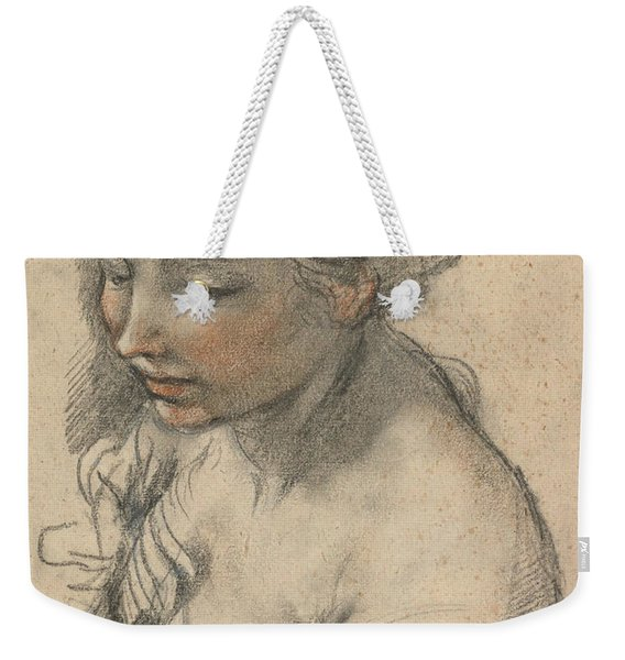 Bust Of A Young Woman Turned To The Left Weekender Tote Bag