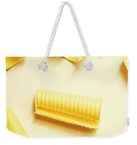 Butter Curls On White Background Weekender Tote Bag