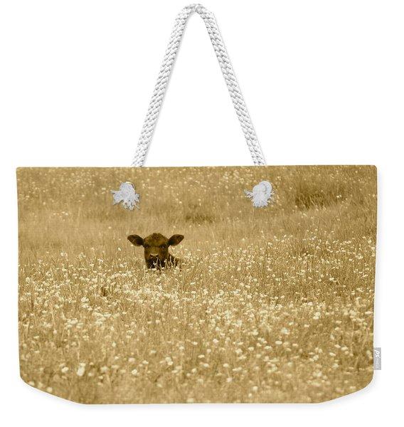 Buttercup In Sepia Weekender Tote Bag