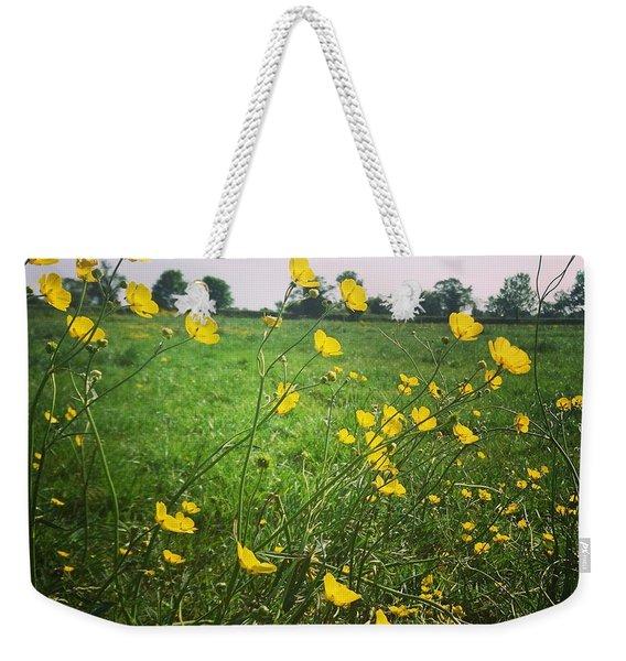 Buttercups Meadow Weekender Tote Bag