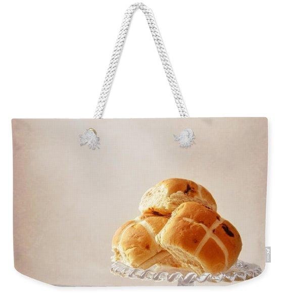Buttered Hot Cross Bun Weekender Tote Bag