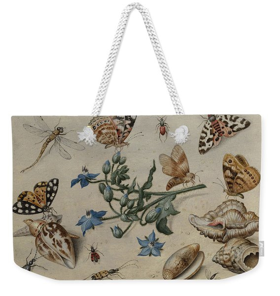 Butterflies, Clams, Insects And Flowers Weekender Tote Bag