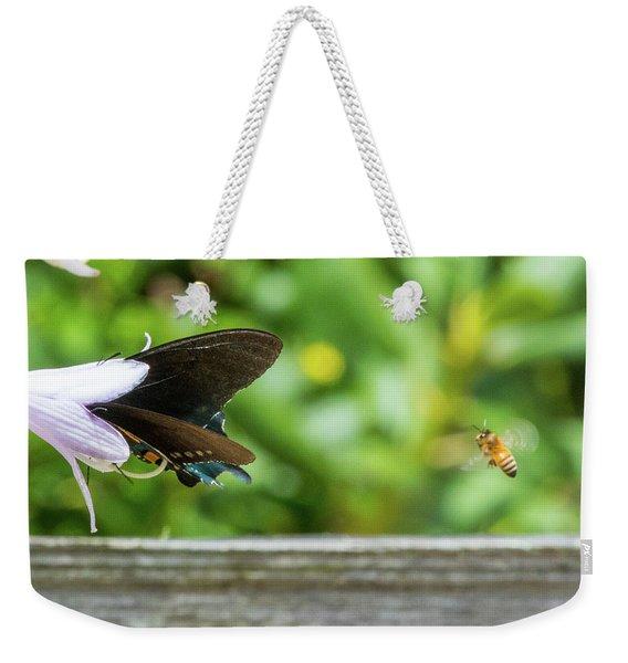 Butterfly And Bee Weekender Tote Bag