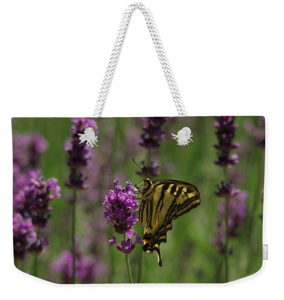 Butterfly Balancing Act Weekender Tote Bag