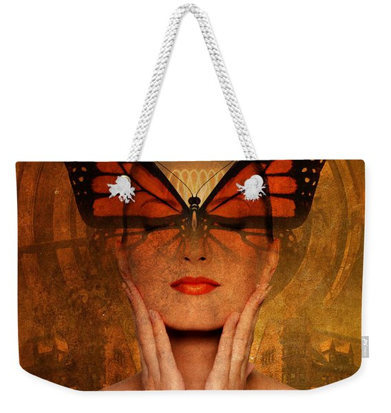 Butterfly Brilliance At The Red Grass Castle Weekender Tote Bag
