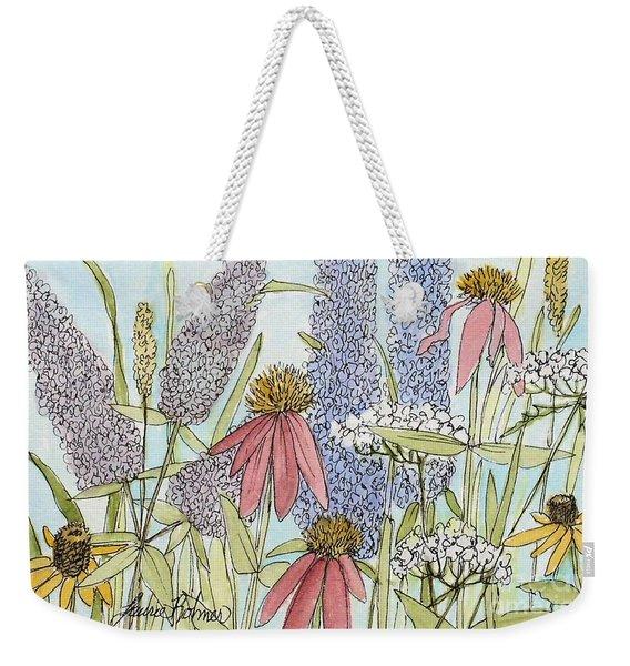 Butterfly Bush In Garden Weekender Tote Bag