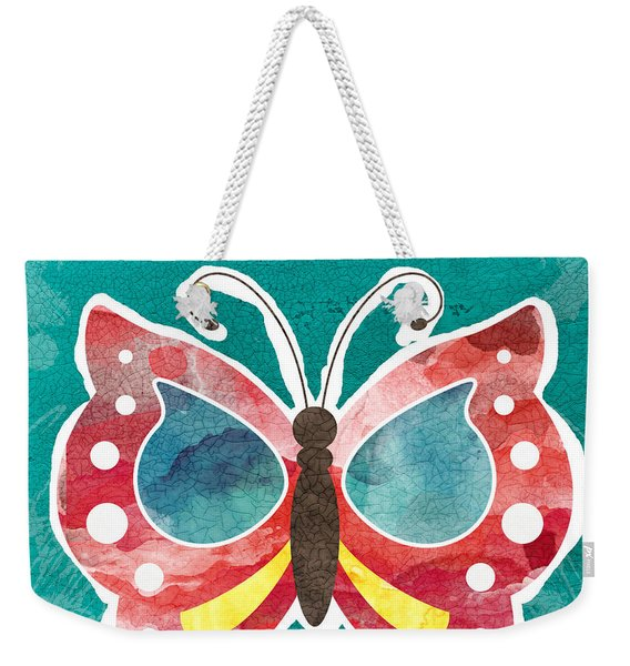 Butterfly Happiness Weekender Tote Bag