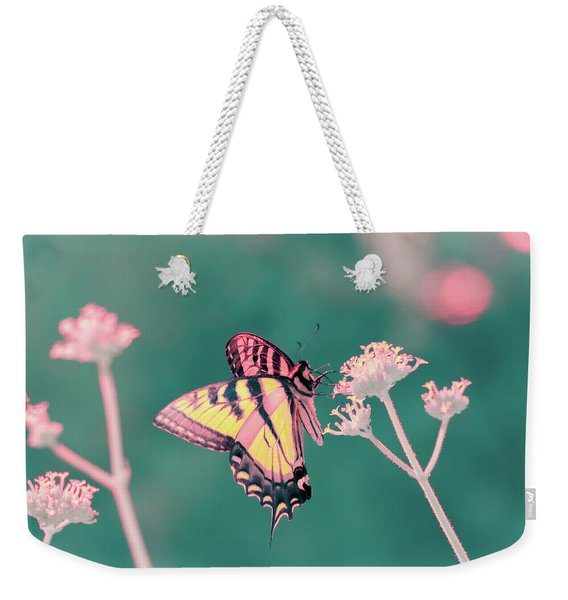 Weekender Tote Bag featuring the photograph Butterfly In Infrared by Brian Hale