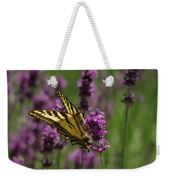Butterfly In Lavender Weekender Tote Bag