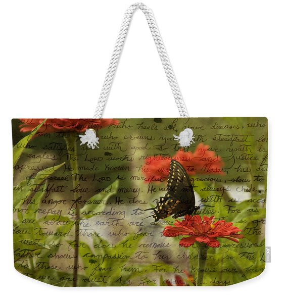 Butterfly Notes Weekender Tote Bag