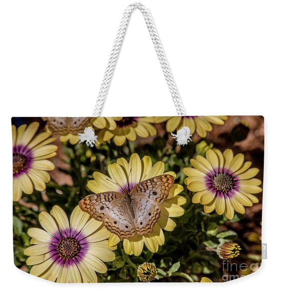 Butterfly On Blossoms Weekender Tote Bag