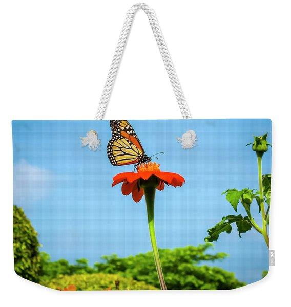 Butterfly Perch Weekender Tote Bag