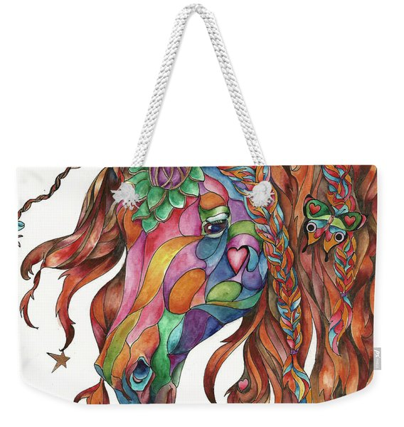 Butterfly Pony Weekender Tote Bag