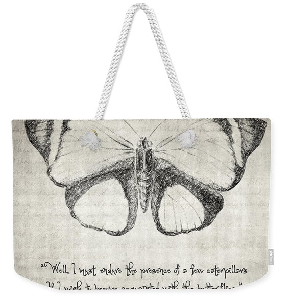 Butterfly Quote - The Little Prince Weekender Tote Bag