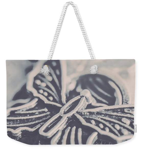 Butterfly Shaped Charm Weekender Tote Bag