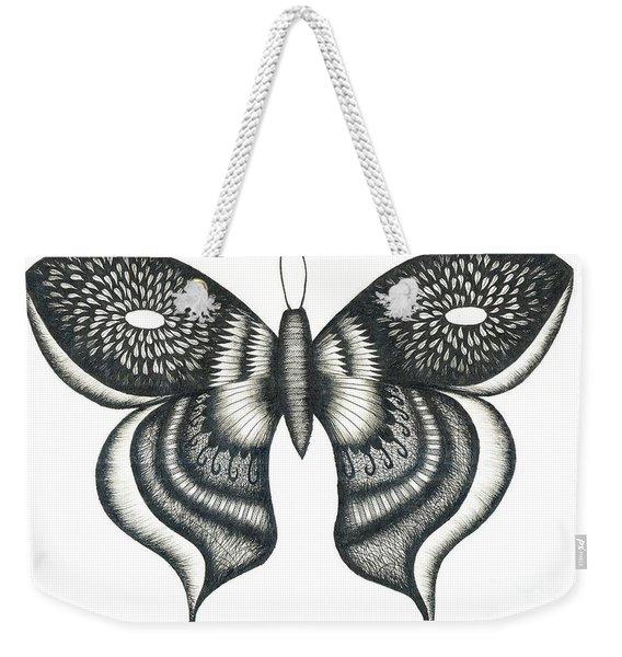 Burst Butterfly Drawing Weekender Tote Bag