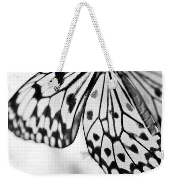 Butterfly Wings 3 - Black And White Weekender Tote Bag